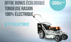 Promo tondeuse Rasion Pellenc : -300€ HT  1 an de garantie